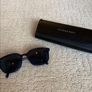 Navy Burberry Sunglasses